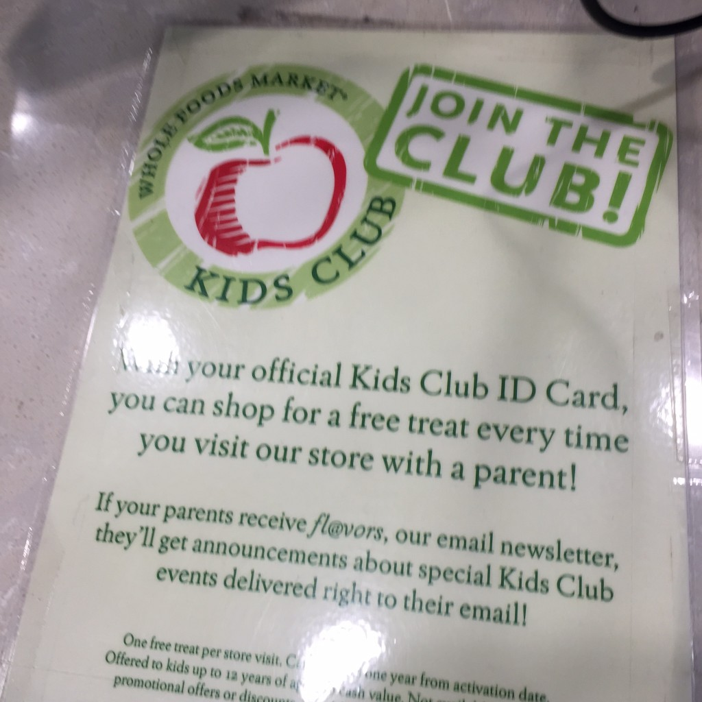 Whole Foods Kids Club