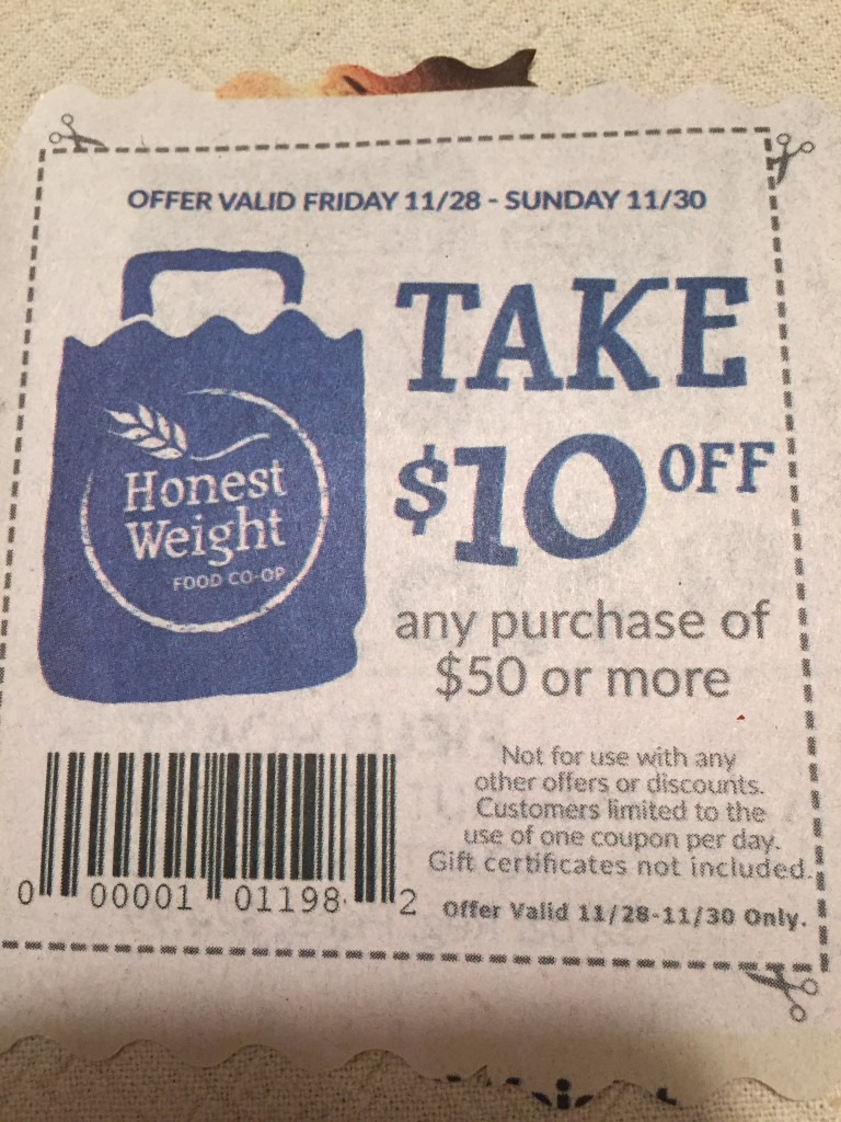 Honest Weight coupon