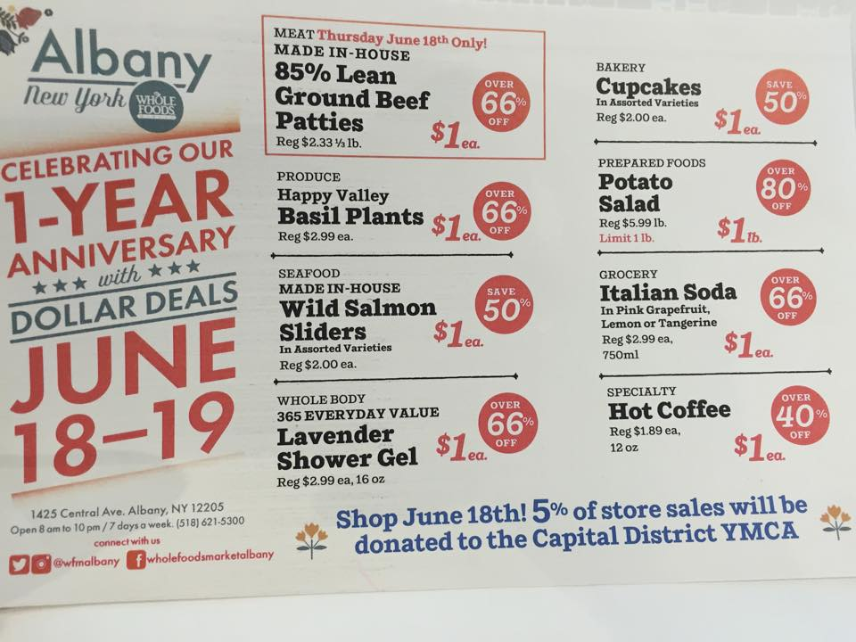 Whole Foods Dollar Deals