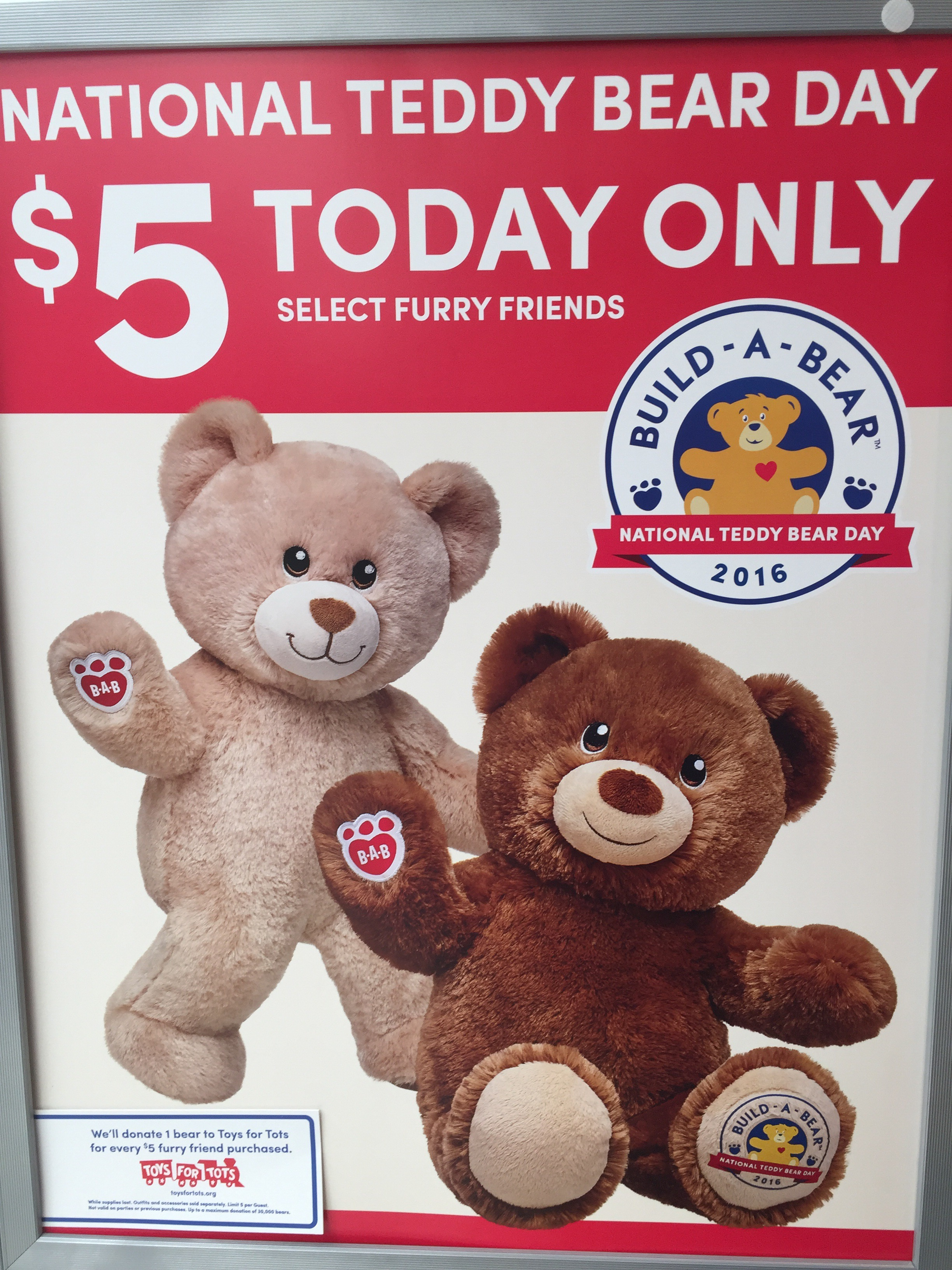 5 bears at build a bear today. Black Bedroom Furniture Sets. Home Design Ideas