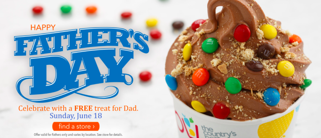 Tcby capital region finds dads get a free treat at tcby on fathers day sunday june 18th find participating locations here publicscrutiny Choice Image